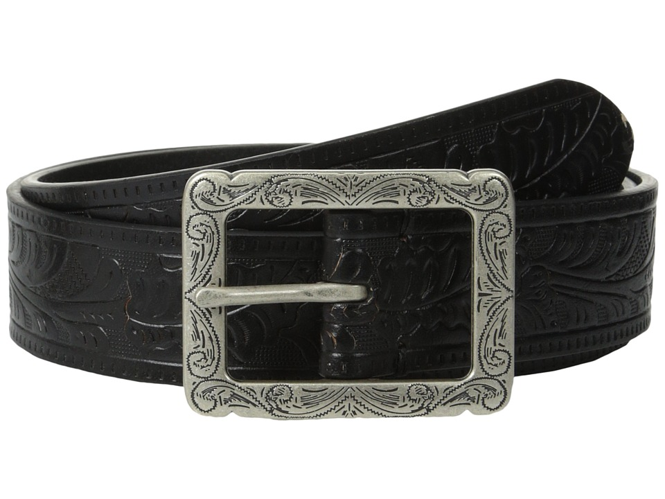 LAUREN by Ralph Lauren - Paulden 1 3/8 Embossed Belt (Black) Women's Belts