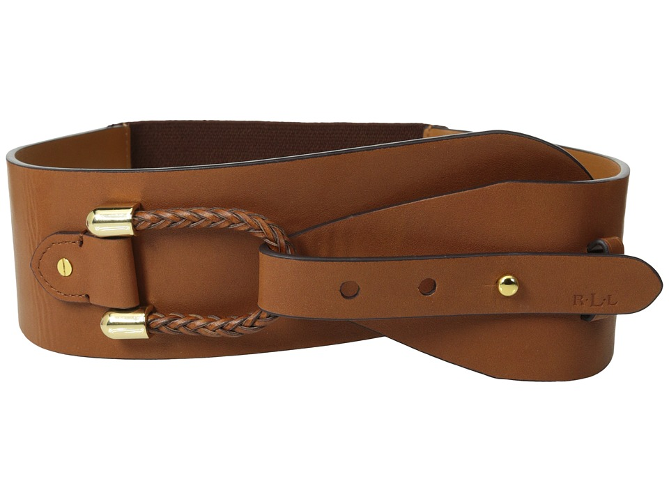LAUREN by Ralph Lauren - Stretch 2 3/4 Loop Belt (Tan) Women's Belts