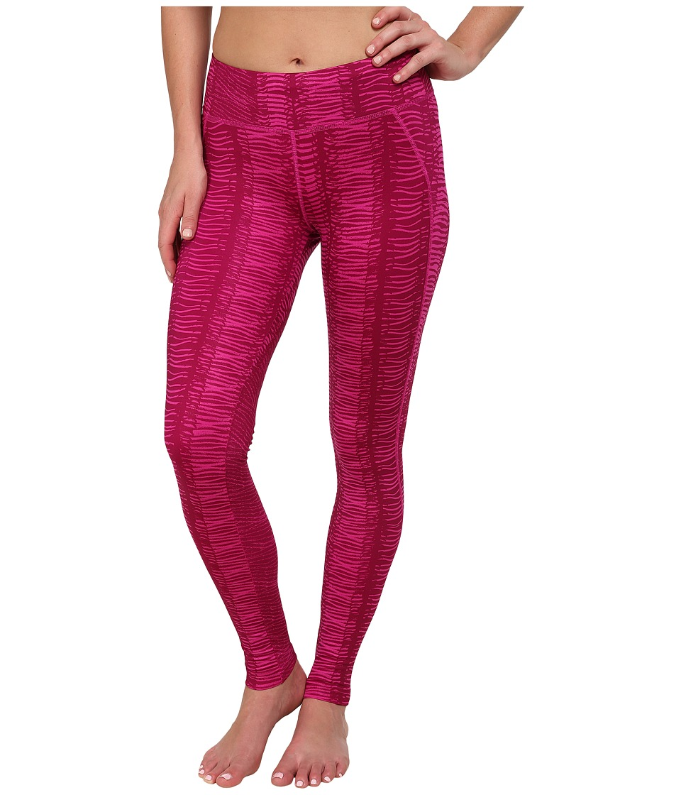 The North Face - Printed Piper Pants (Luminous Pink/Dramatic Plum Bark Print) Women's Casual Pants