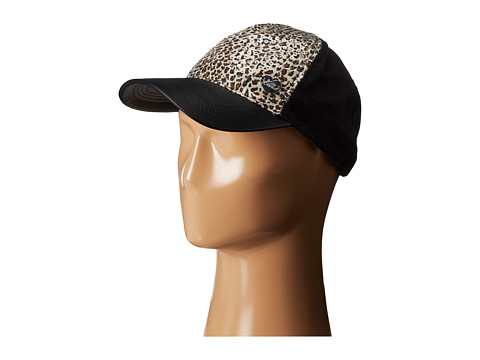 Betsey Johnson - Sequin Cheetah Basball Hat (Black) Baseball Caps