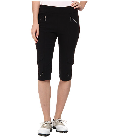 Jamie Sadock - Skinnylicious 24 in. Knee Capri (Jet Black 1) Women