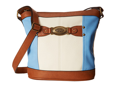 b.o.c. - Colima Large Bucket Crossbody (Bone/Sky) Cross Body Handbags