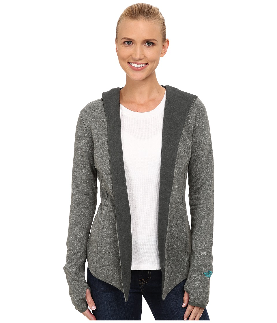 The North Face - Harmony Park Wrap (Oscar Green Heather) Women's Long Sleeve Pullover
