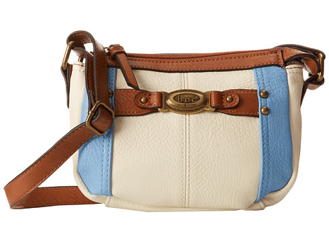 b.o.c. - Colima Mini TZ (Bone/Sky) Top-Zip Handbags