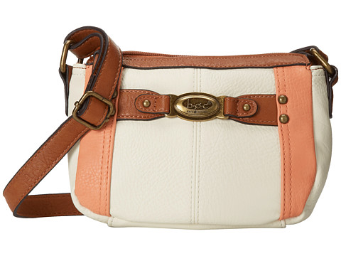 b.o.c. - Colima Mini TZ (Bone/Coral) Top-Zip Handbags