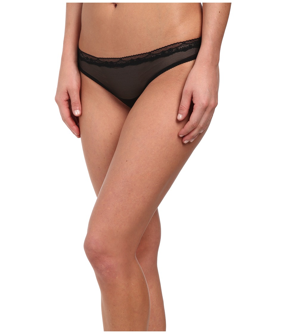 Josie - Shine Thong (Black) Women's Underwear