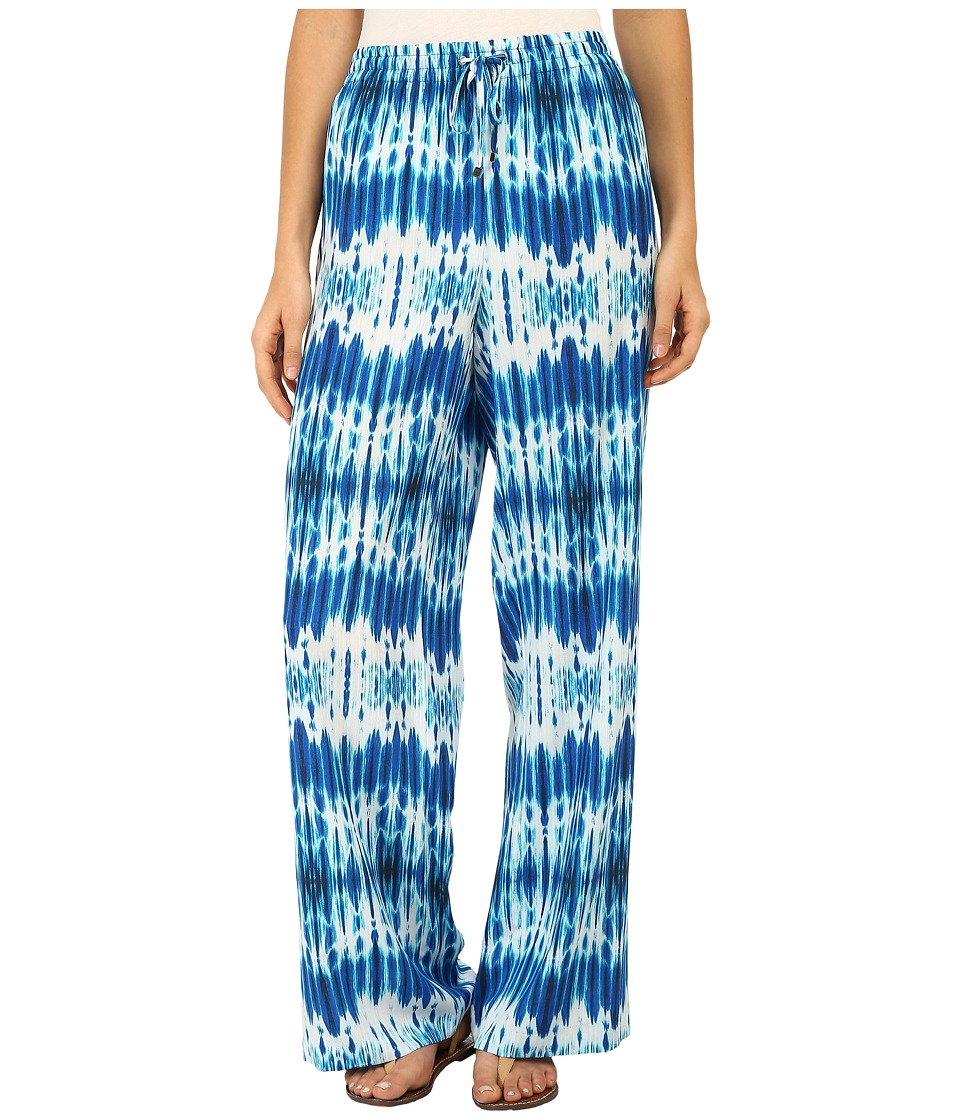 Calvin Klein - Printed Wide Leg Pants (Adritc Blue Multi) Women's Casual Pants