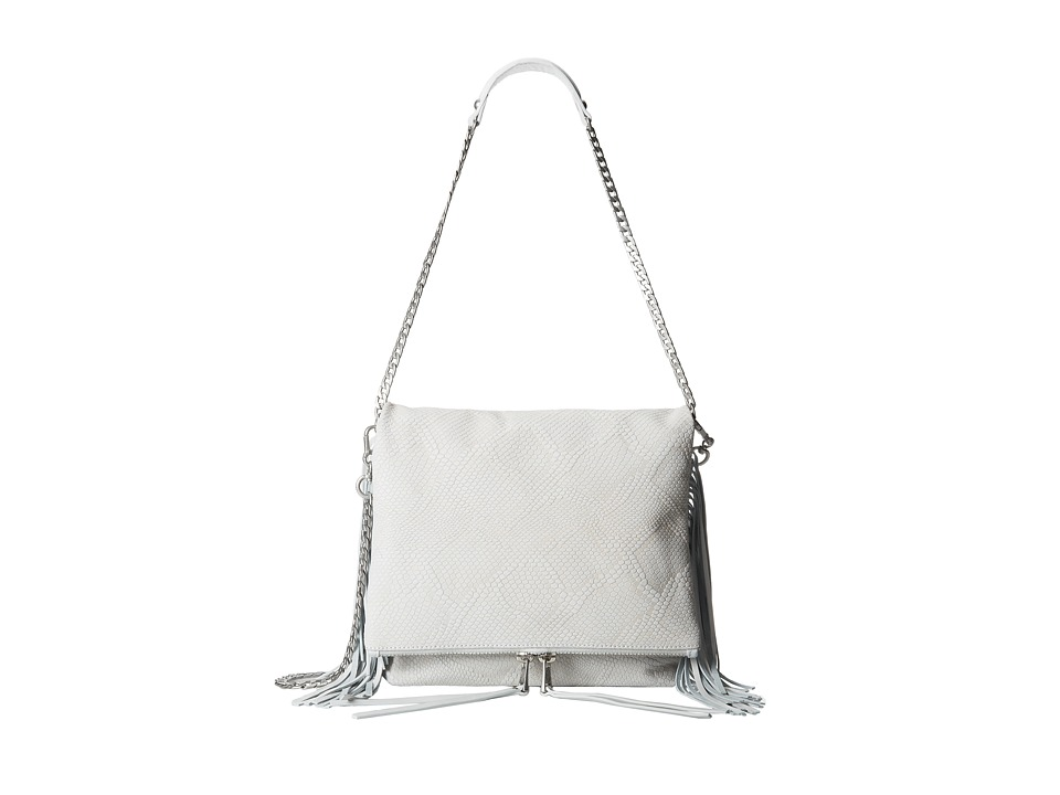 ASH - Kimi Snake - Crossbody (White) Cross Body Handbags