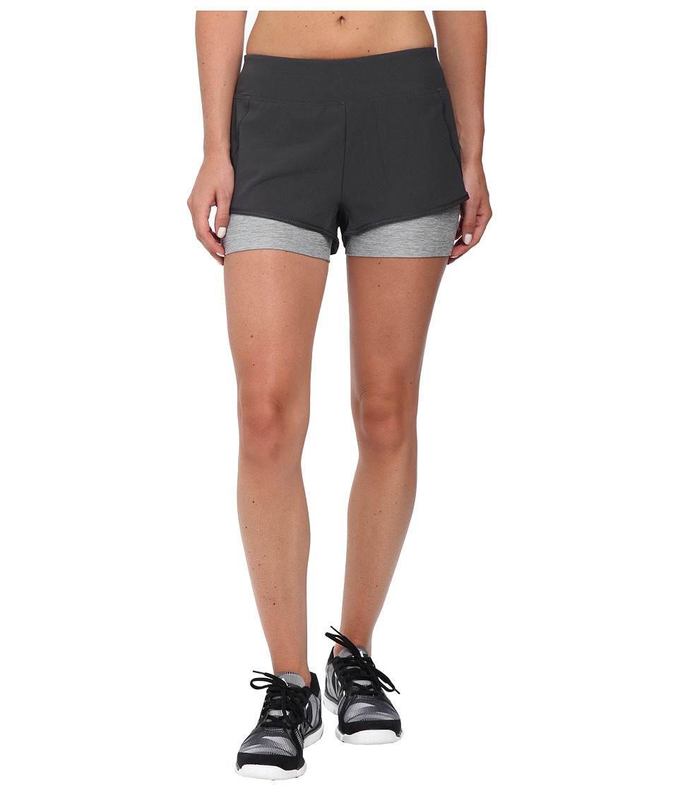 The North Face Dynamix Stretch Shorts (Asphalt Grey/Monument Grey Heather) Women