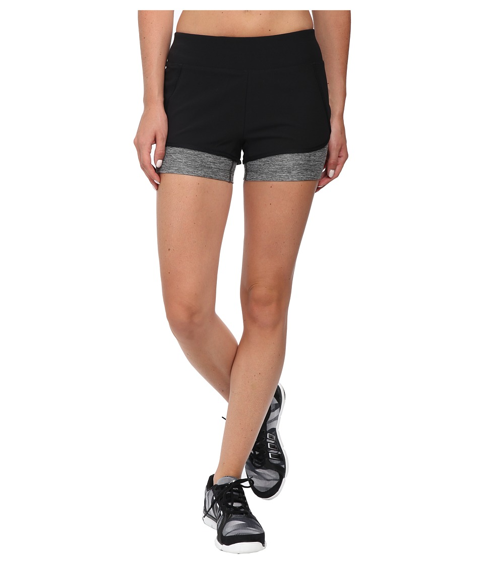The North Face Dynamix Stretch Shorts (TNF Black/Asphalt Grey Heather) Women