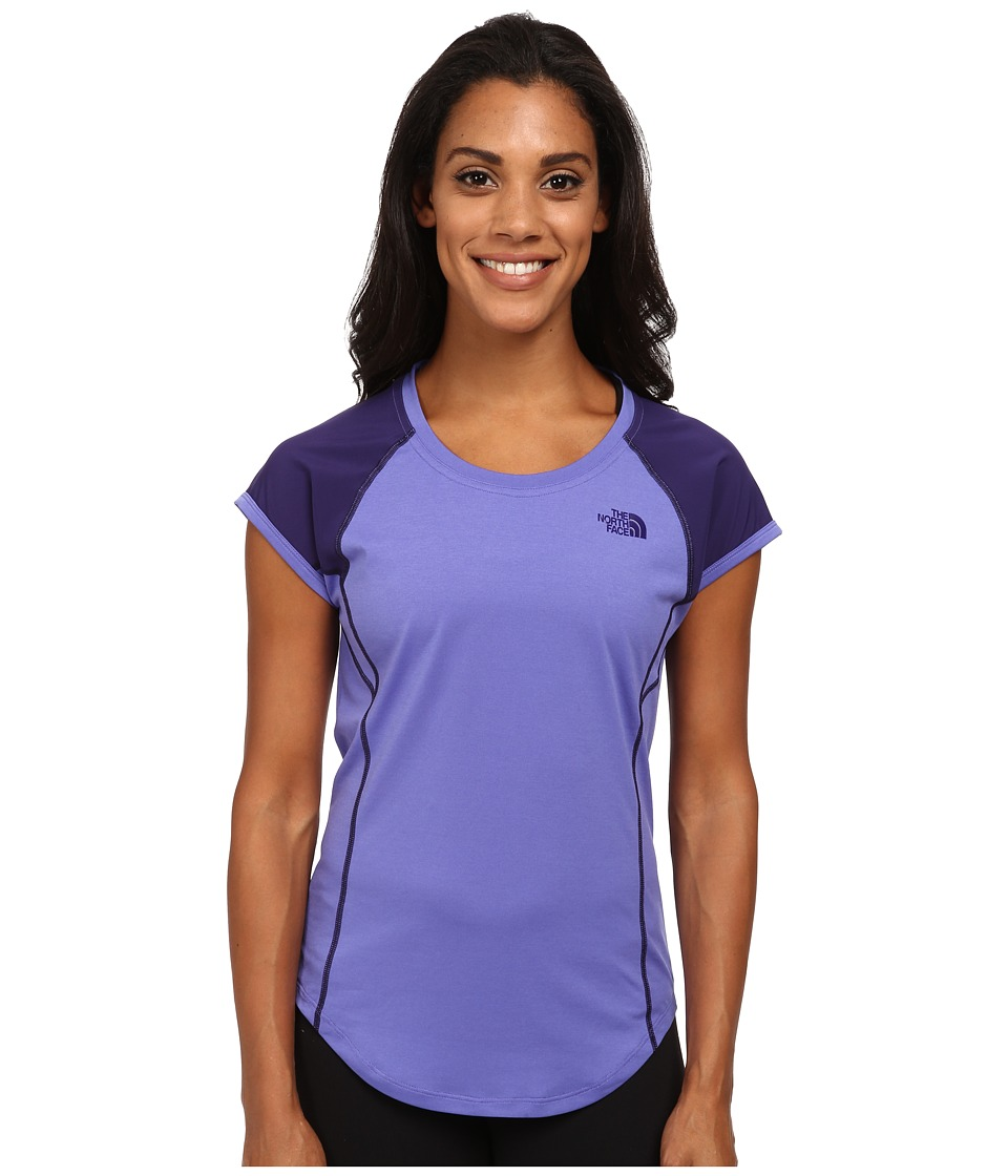 The North Face - MA-X Short Sleeve Shirt (Starry Purple/Garnet Purple) Women