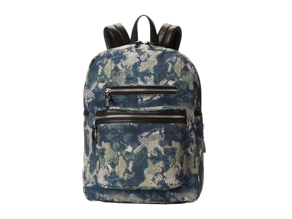 ASH - Danica-Canvas - Large Backpack (Camo/Black) Backpack Bags