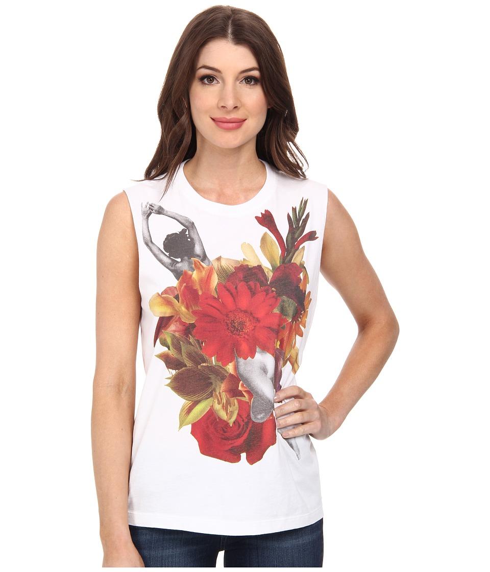 Diesel - T-Solari-A Singlet (White) Women's T Shirt