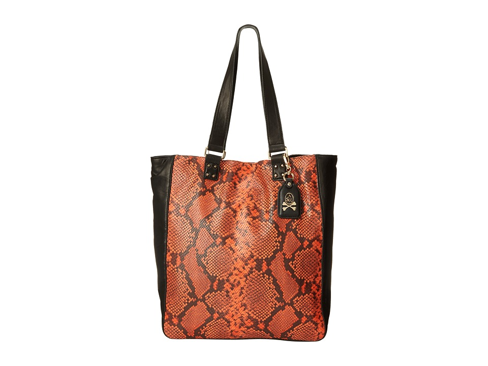 ASH - Indy-Python - Tote (Orange/Black) Tote Handbags