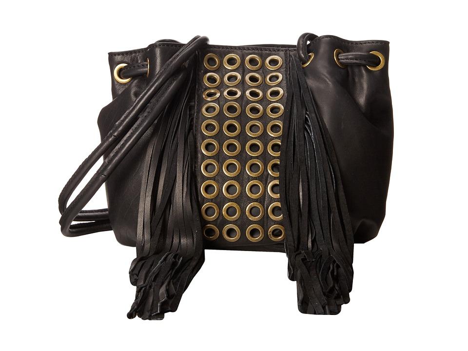 ASH - Kimi Grommets - Drawstring (Black) Drawstring Handbags