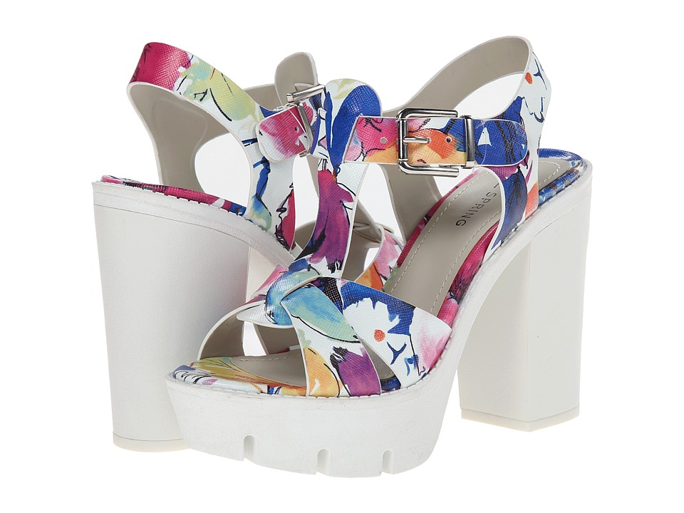 Call it SPRING - Dolina (White Floral) High Heels