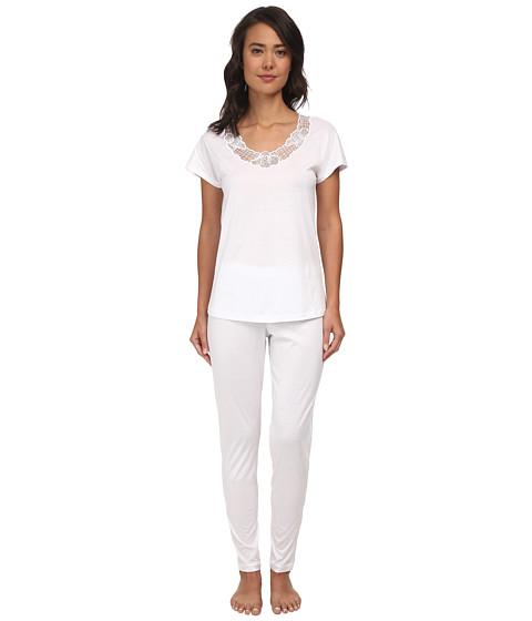 Hanro - Savona Pajama (White) Women's Pajama Sets