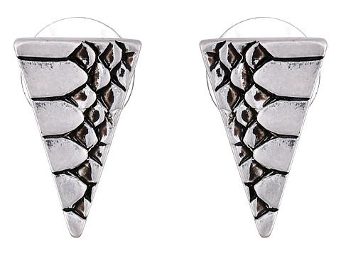 Sam Edelman - Snake Triangle Stud Earrings (Rhodium) Earring