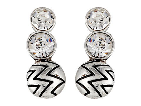 Sam Edelman - Stone Ear Crawler Earrings (Rhodium) Earring