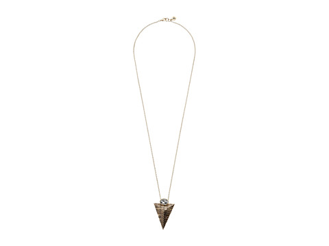 Sam Edelman - Etched Pyramid Pendant 30 Necklace (Gold) Necklace