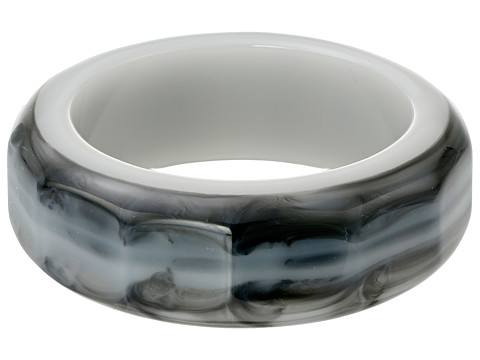 Sam Edelman - Carved Resin Bangle Bracelet (Black) Bracelet