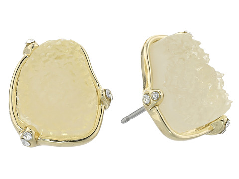 Sam Edelman - Small Pronged Stud Earrings (Ice/Gold) Earring