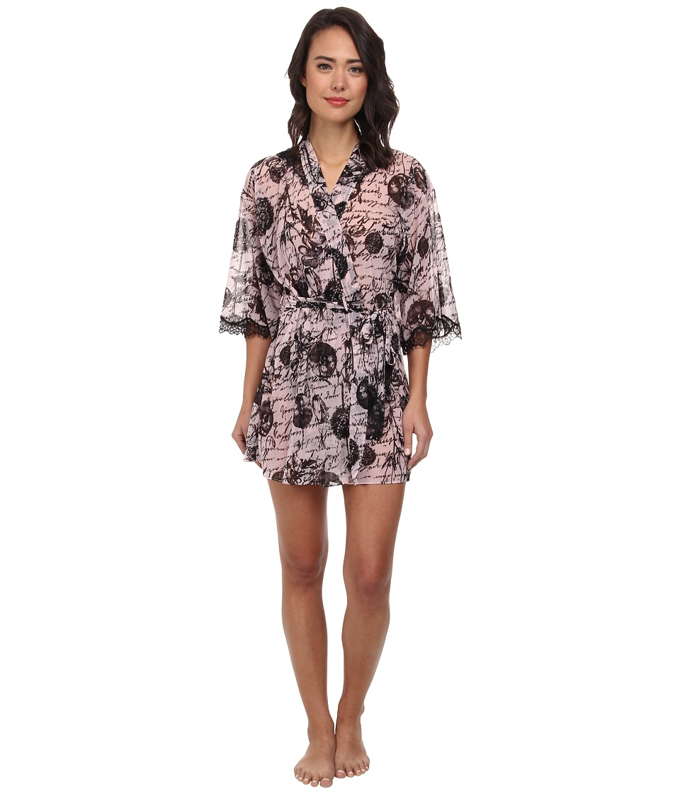 Betsey Johnson - Knit Chiffon Robe (Love Letters) Women