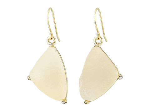 Sam Edelman - Prong Stone Drop Earrings (Ice/Gold) Earring