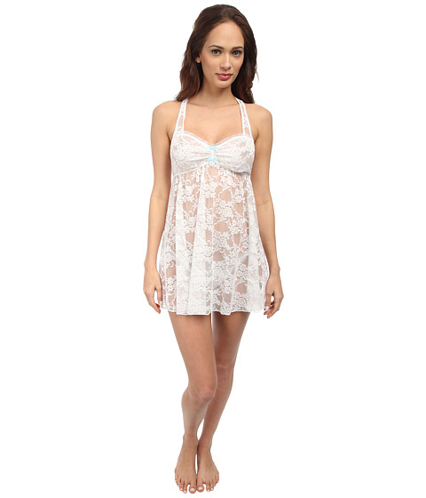 Betsey Johnson - Lace Babydoll (Pearl) Women