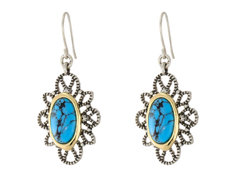 Sam Edelman - Filagree Turquoise Drop Earrings (Turquoise/Rhodium) Earring