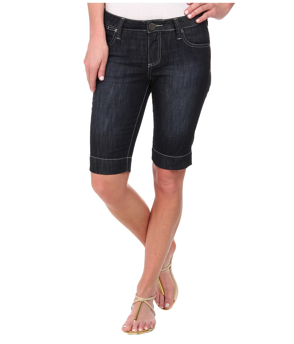KUT from the Kloth - Natalie Bermuda in Direct/Dark Stone Base Wash (Direct/Dark Stone Base Wash) Women's Jeans