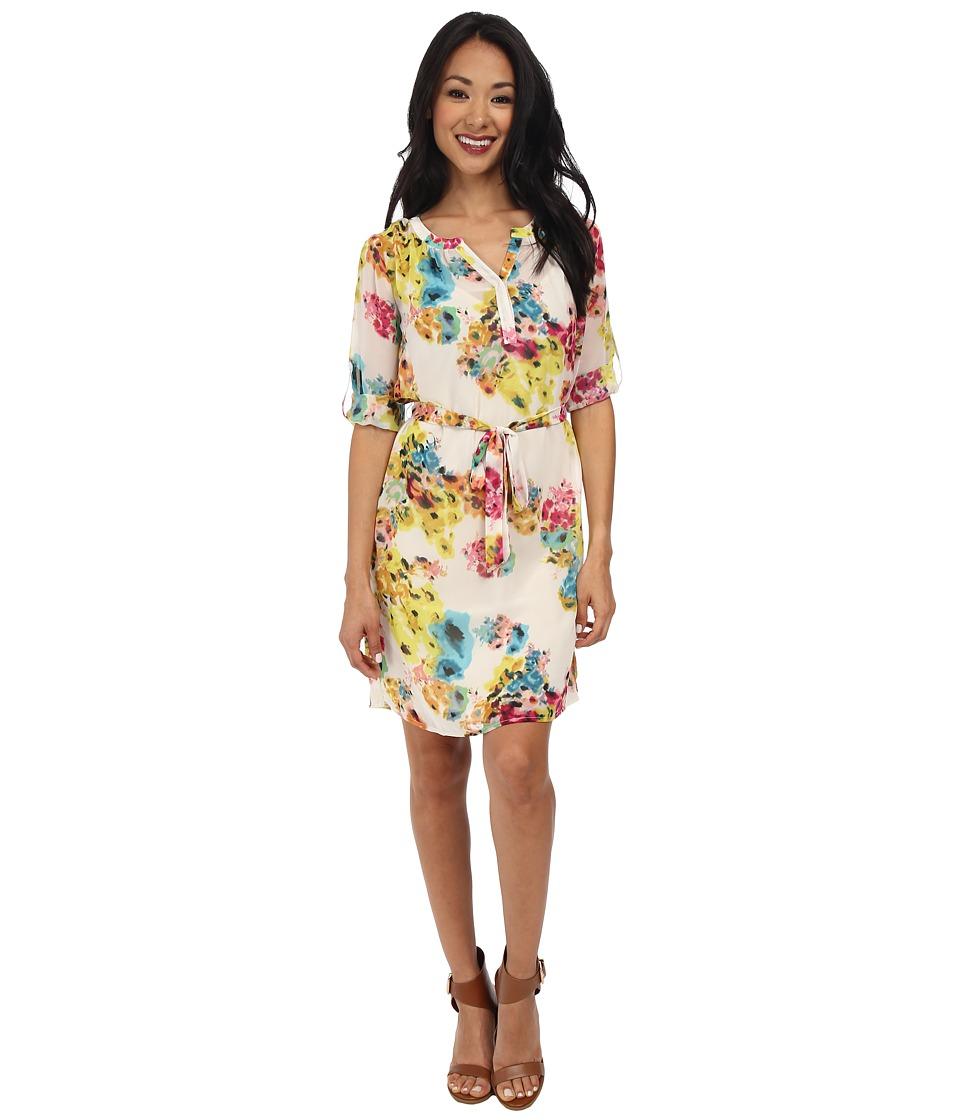 KUT from the Kloth - Adali Dress (Pink/Yellow) Women's Dress