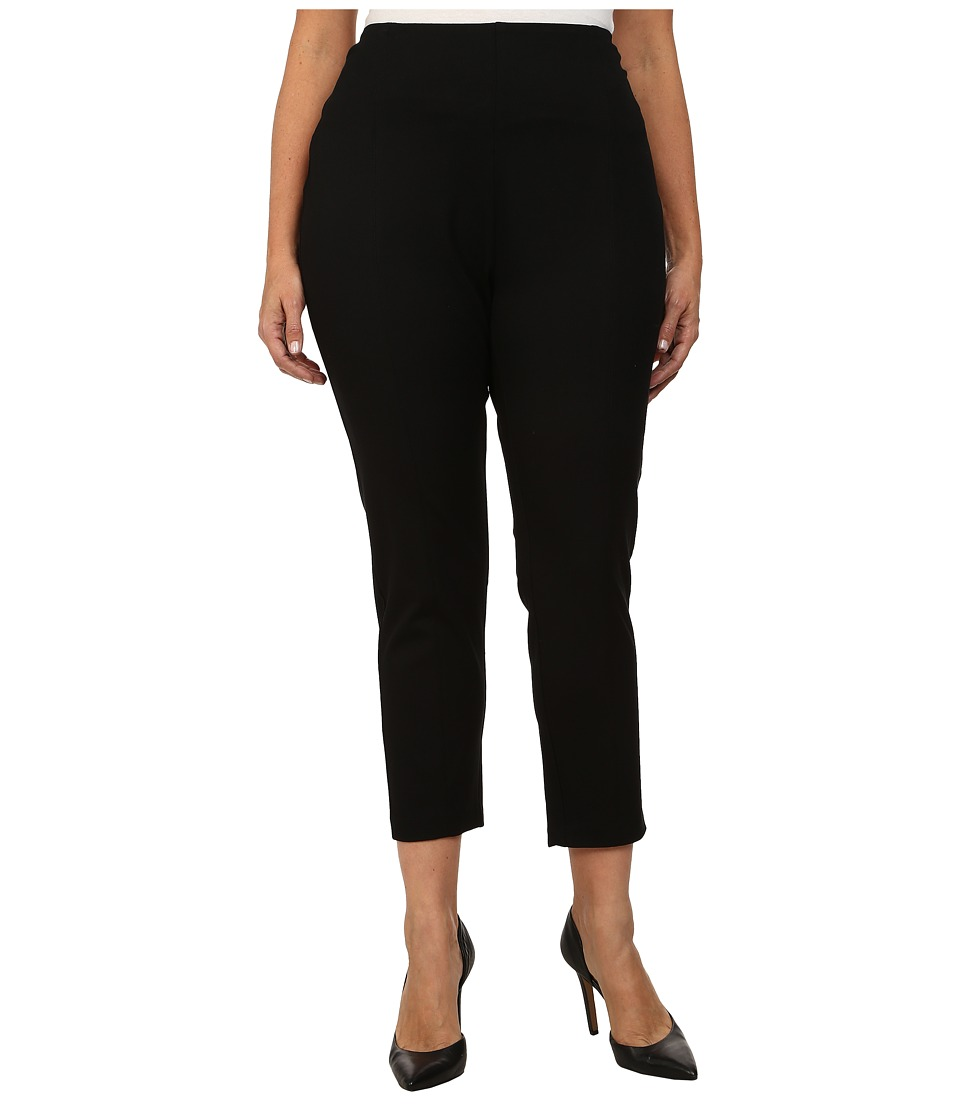 Lysse - Plus Size Twill Cigarette Pants (Black) Women's Casual Pants