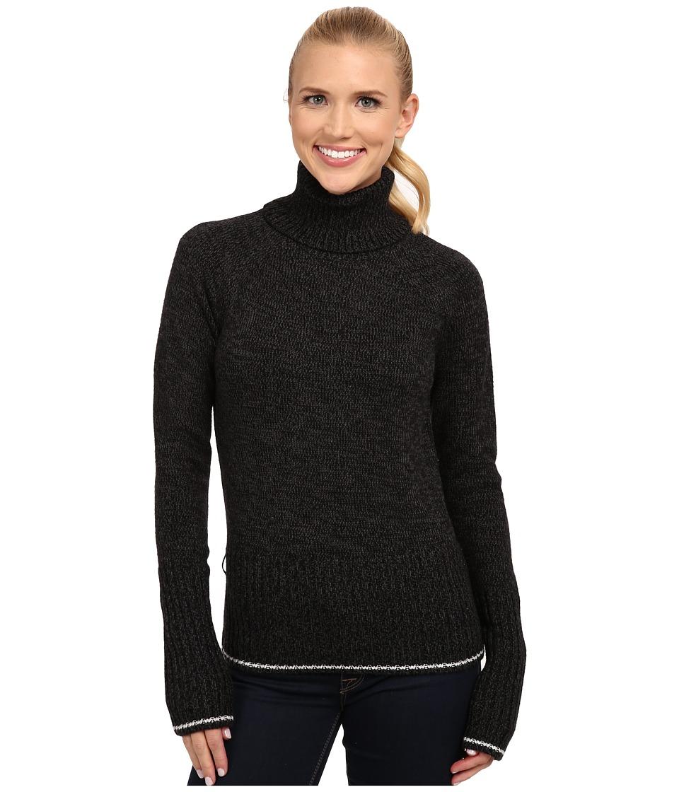 Icebreaker - Aura Long Sleeve Turtleneck (Black/Jet Heather) Women's Sweater