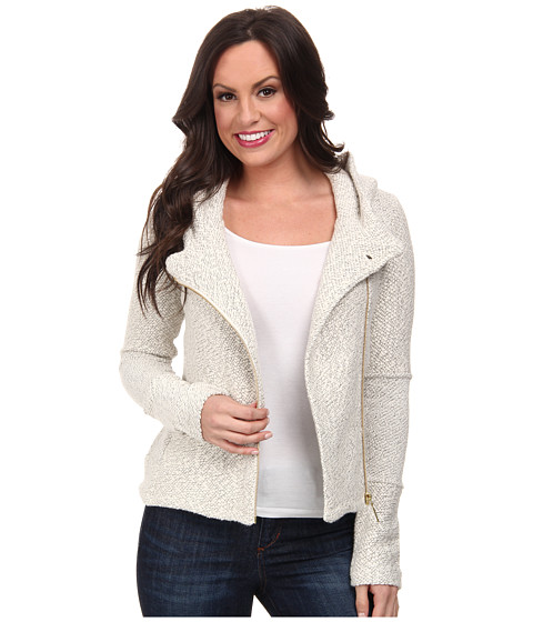 Lucky Brand - Hooded Active Jacket (Light Grey) Women