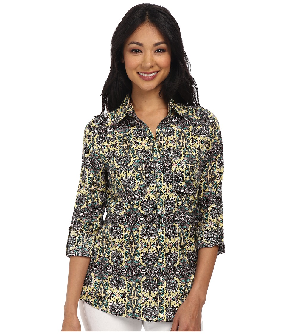 KUT from the Kloth - Calista (Danish Tile) Women's Long Sleeve Button Up