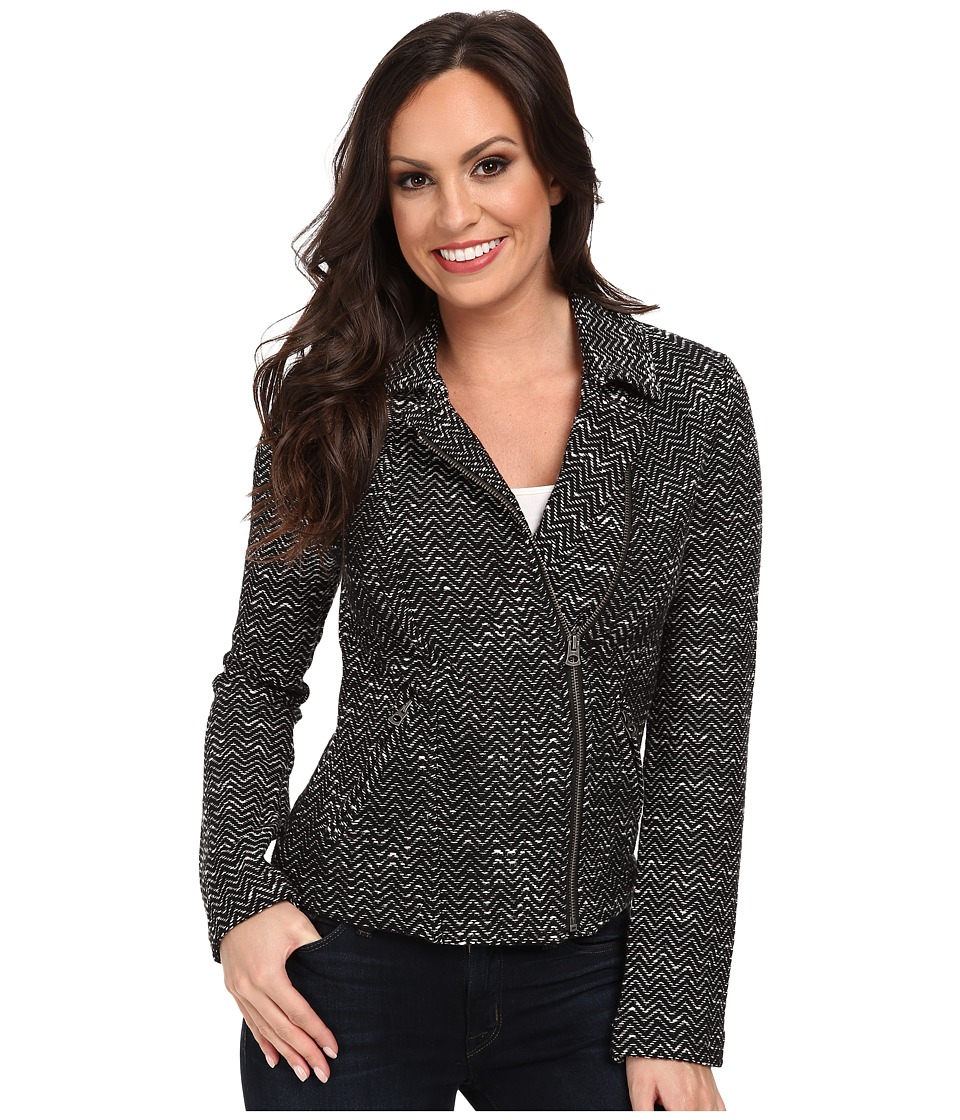 Lucky Brand - Textured Sweater Jacket (Black Multi) Women