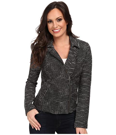 Lucky Brand - Textured Sweater Jacket (Black Multi) Women
