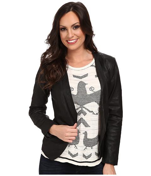 Lucky Brand - Leather Blazer (001 Lucky Black) Women's Jacket