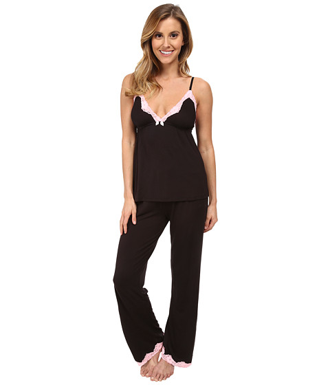 Betsey Johnson - Rayon Knit PJ Set (Raven Black) Women's Pajama Sets