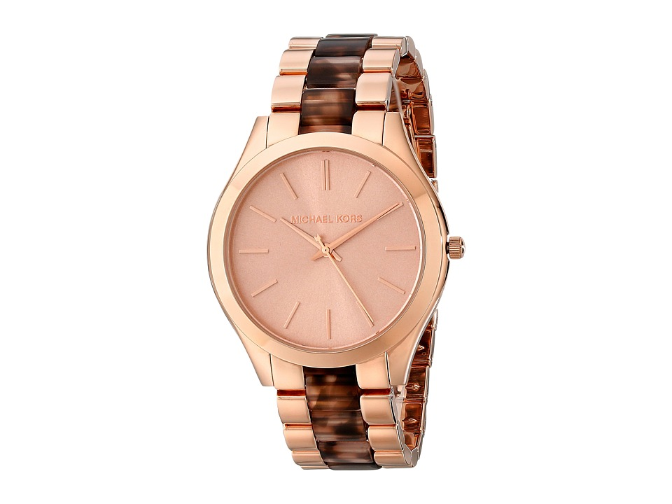 Michael Kors - MK4301 - Slim Runway (Rose Gold/Blush Tortoise) Watches