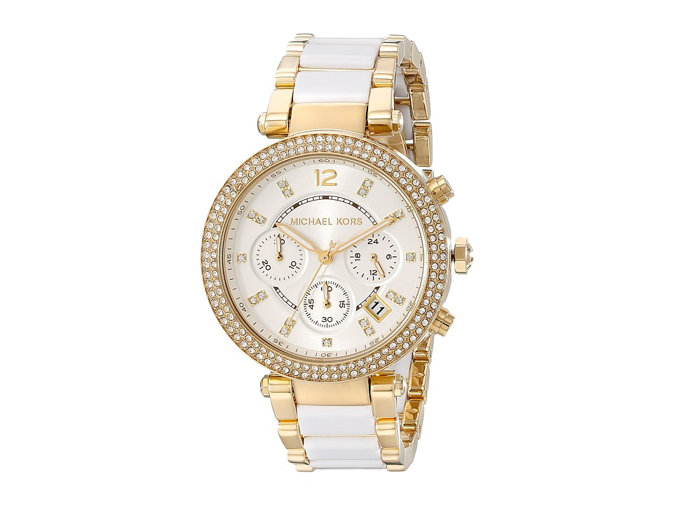 Michael Kors - MK6119 - Parker (Gold/White) Watches