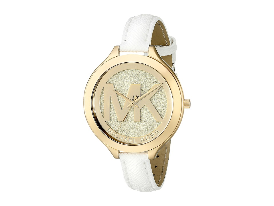 Michael Kors - MK2389 - Slim Runway (Gold/White) Watches