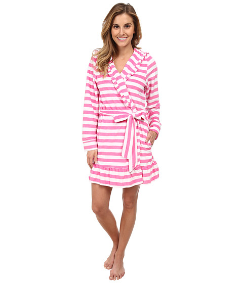 Betsey Johnson - Vintage Terry Robe (Mojito Stripe Sugar Daddy) Women