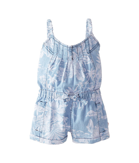 Appaman Kids - Hawaiian Print Romper with Elastic Straps (Toddler/Little Kids/Big Kids) (Chambray 2) Girl's Jumpsuit & Rompers One Piece