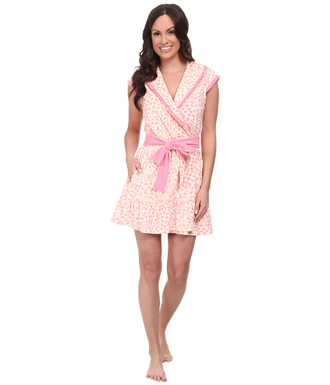 Betsey Johnson - Baby Terry Robe (Fluttering Spots Pink) Women's Robe