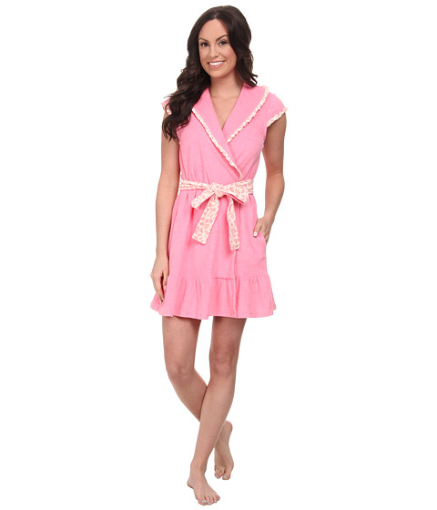 Betsey Johnson - Baby Terry Robe (Pink Cheeks) Women's Robe