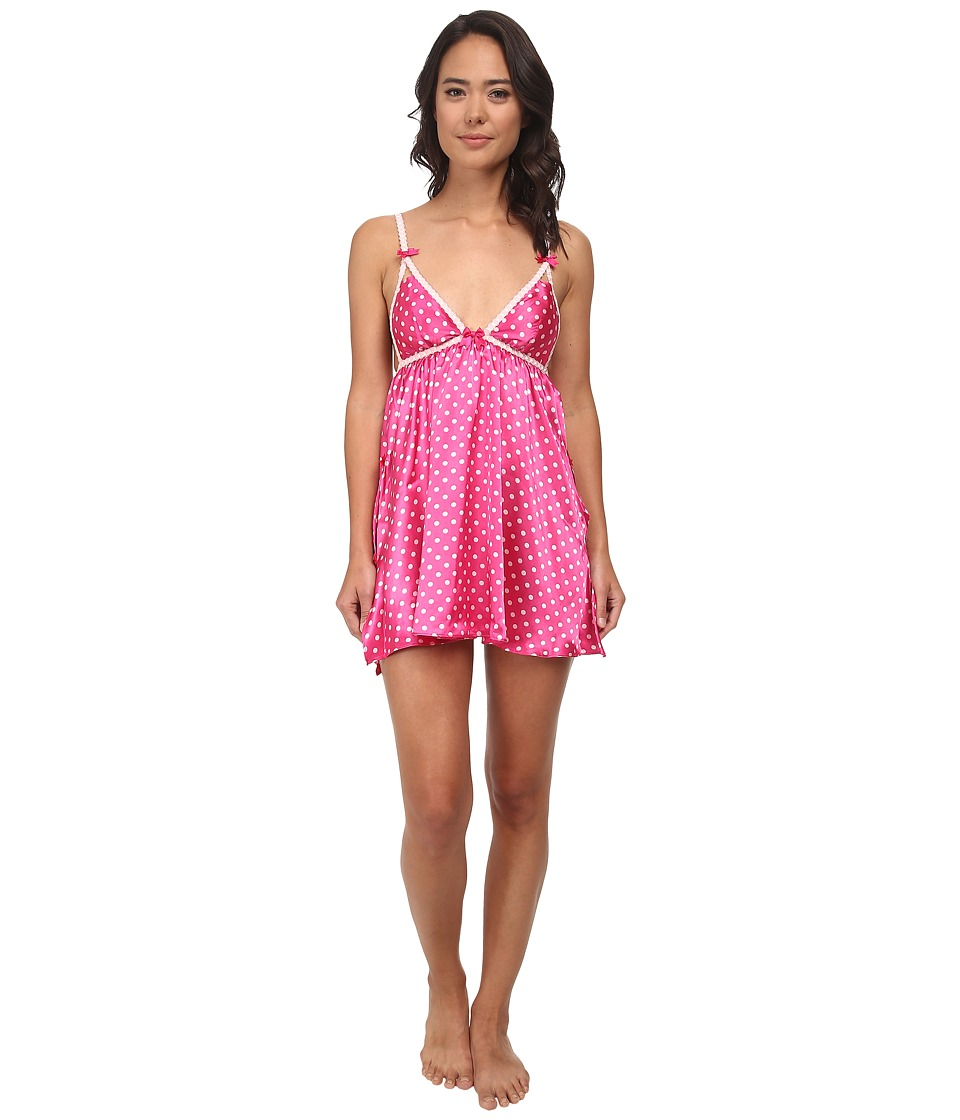 Betsey Johnson - Satin Slip (Gina Dots Think Pink) Women
