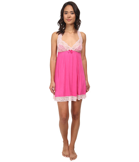 Betsey Johnson - Rayon Knit Slip (Think Pink) Women's Pajama