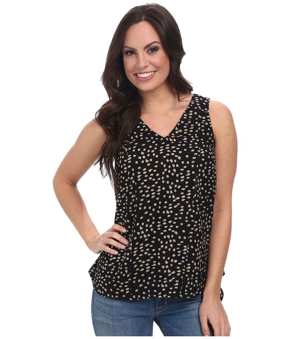 Lucky Brand - Polka Dot Shell (Black Multi) Women's Clothing